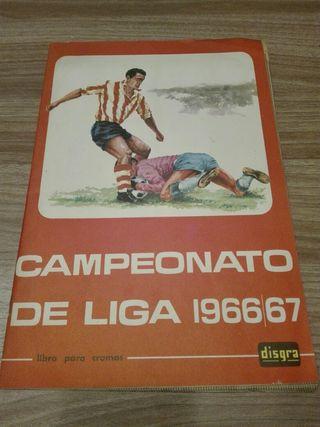 Album cromos liga 1966-67