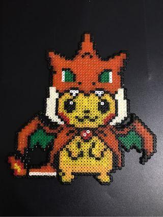 Pikachu Hama beads