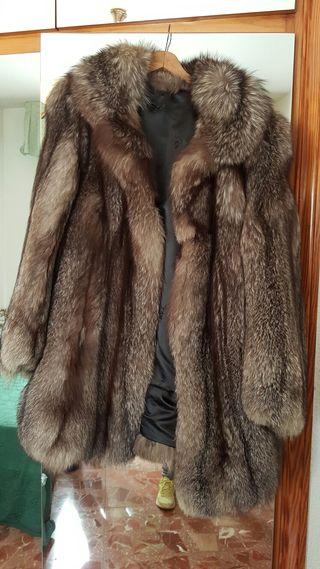 Abrigo de piel de zorro de canada nuevo