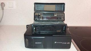 Radiocassete con cargador de cd's