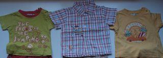 camisa y camisetas verano niño 6-9 meses