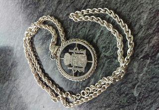 Cordón cadena colgante de plata