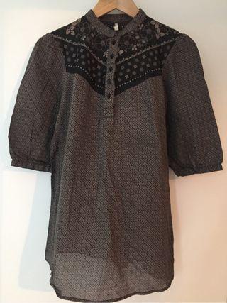 Blusa Camisa Marrón S
