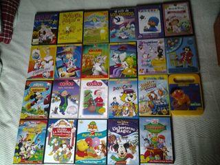 Dvd' infantiles varios. Disney, Warner Bros