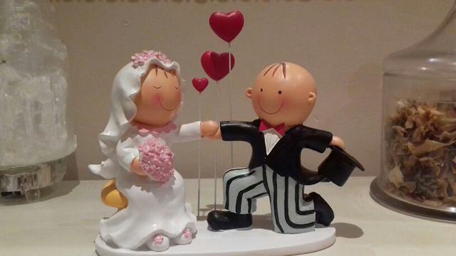 Muñecos para pastel novios
