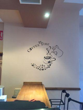 Vinilo decorativo cafetería Coffee Time