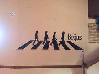 Vinilo decorativo paredes The Beatles