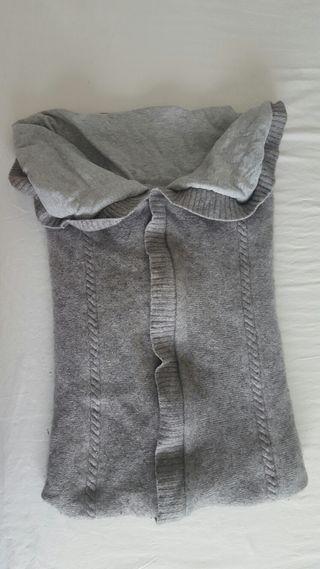 Saco de punto con interior de algodón para capazo