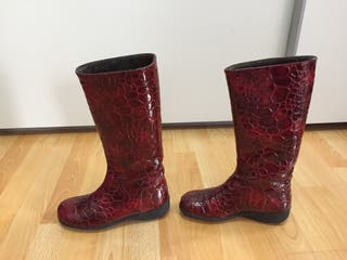 Botas marca d-chica rojas