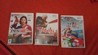 Wii , juegos lote
