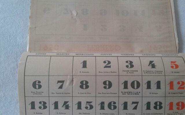 Calendario 1950.Calendario 1950 Valdespino De Segunda Mano Por 16 En