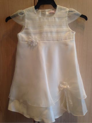 Vestido ceremonia para niña talla 3 blanco roto