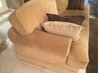 Sofá de Pana marrón 3 plazas