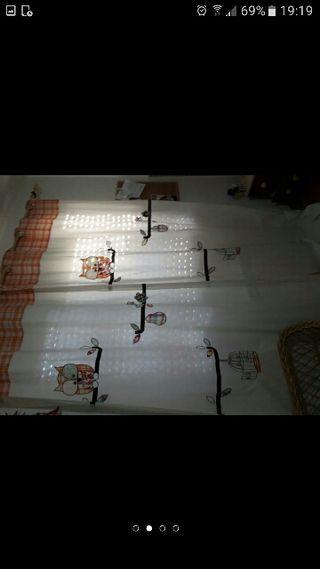 cortina más Funda con relleno