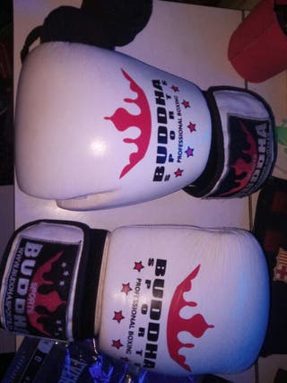 Lote guantes boxeo budas + vendas +guante neopreno