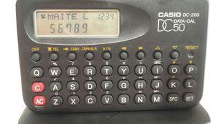 Calculadora/agenda CASIO