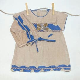 Vestido yoedu con capota 12 meses