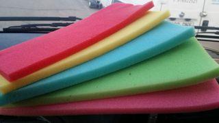 Planchas de goma espuma de colores para gorros