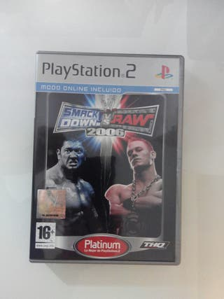 Juego Smack Down vs Raw 2006 de PS2