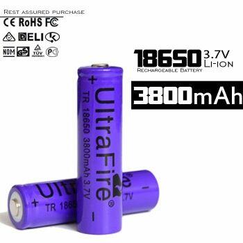 Batería Recargable UltraFire TR 18650.