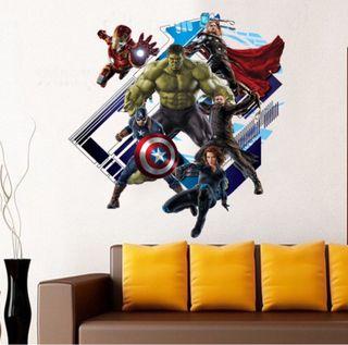 Vinilo adhesivo. Hulk, Cap América, Thor, Ironman