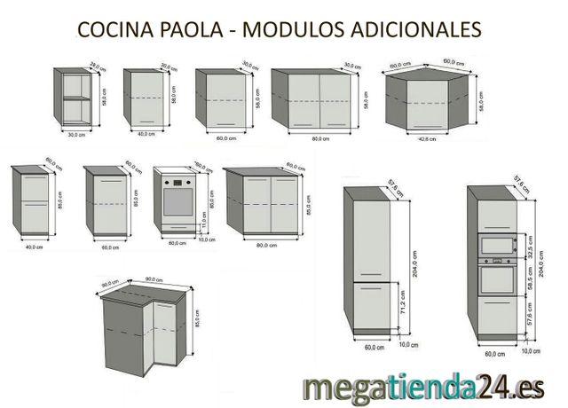 Muebles De Cocina Sandra Plus Con Columna De Segunda Mano