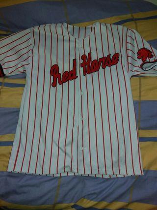 Red horse shirt baseball