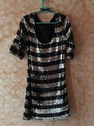 Vestido Lentejuelas doradas/negras