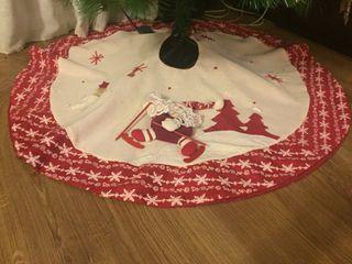 Cubre pie arbol de navidad