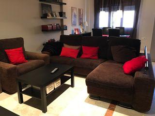 Sofá chaise longue y sillón