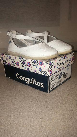 Zapatos blancos niña Conguitos N'22
