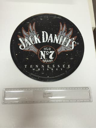 Chapa metalica Jack Daniels