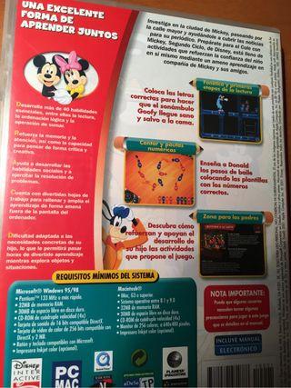 Juego PC Prepárate para el cole con Mickey.