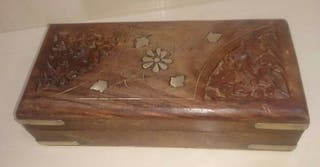 Cofre / Caja De Madera Flores