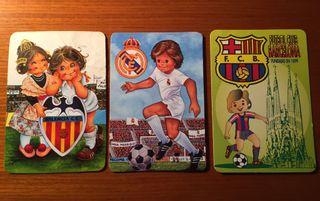 Calendarios de bolsillo: Madrid, Barça y Valencia