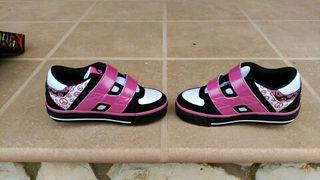 Zapatillas 2 ruedas no. 30 niña, HELIX X2