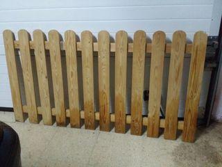 Barrera madera