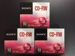 Lote 3 packs CD-RW SONY 700MB