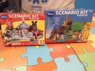 Puzzles 3d Mickey y Rey Leon