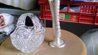 Cristal murano y plata