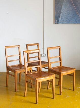 Conjunto 4 sillas años 60. TexTon Vintage