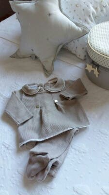 Conjunto bebé 2 piezas gris