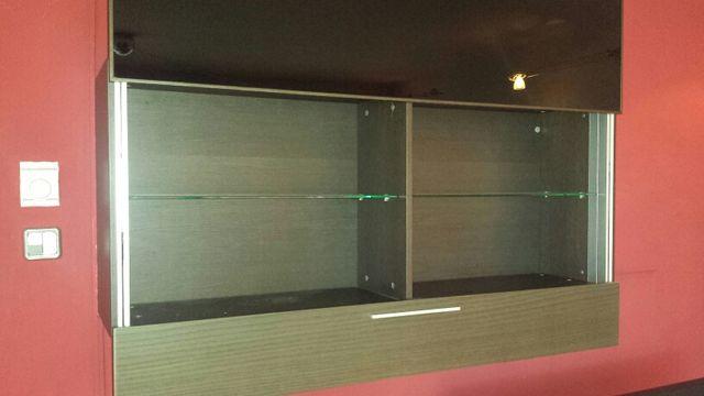 Conjunto mueble pared y TV
