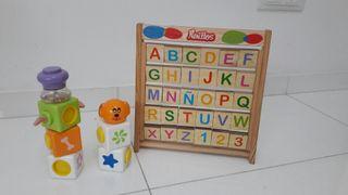 Juguete letras madera y figuras magnéticas