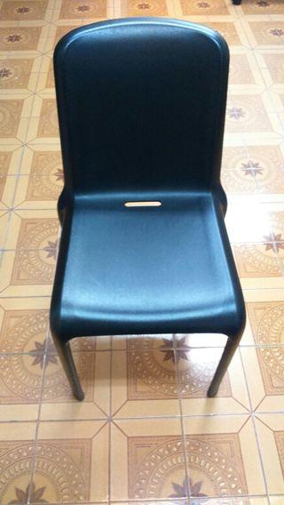 Juego de 2 sillas negras