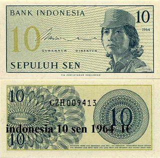 10 Sen de 1964 Indonesia