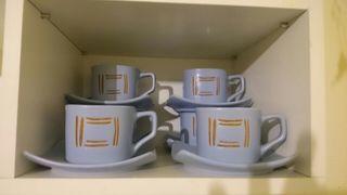 Set de 6 tazas con plato
