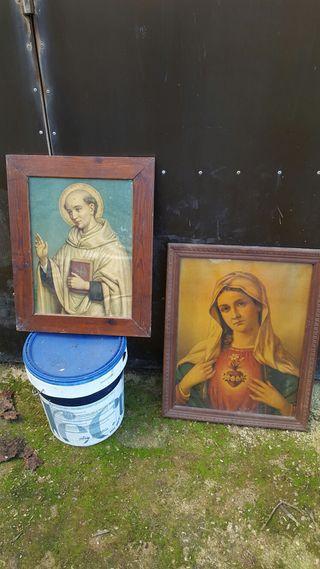 Cuadro religioso (2 cuadros muy antiguos)