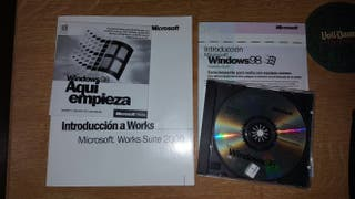 Windows 98 COA original manuales y extras