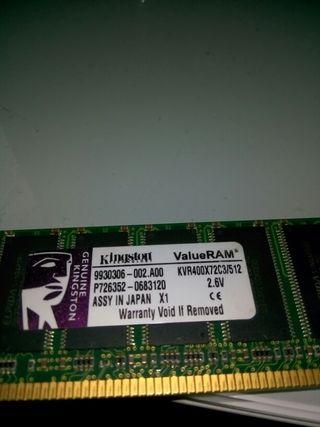 Memoria RAM 512 MB Kingston
